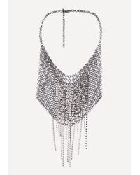 Bebe - Multicolor Chainmail Bib Necklace - Lyst