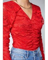 Bebe - Red Tanya Top - Lyst