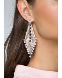 Bebe - Metallic Crystal Party Earrings - Lyst