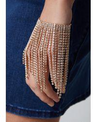 Bebe - Natural Crystal Drape Bracelet - Lyst