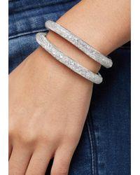 Bebe - Metallic Crystal Mesh Bracelet - Lyst
