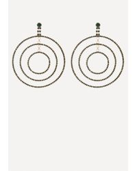 Bebe - Metallic Triple Hoop Earrings - Lyst
