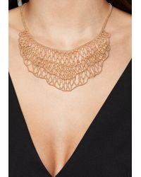 Bebe - Metallic Shot Bead Bib Necklace - Lyst