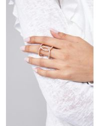 Bebe - Metallic Crisscross Ring - Lyst