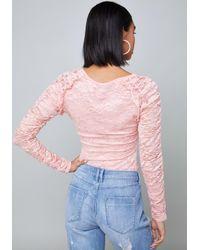 Bebe Pink Roxy Rouge Top