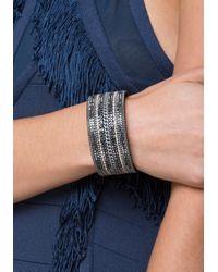 Bebe | Multicolor Crystal & Chain Cuff | Lyst