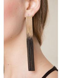 Bebe - Multicolor Ombre Long Fringe Earrings - Lyst