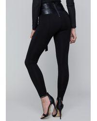 Bebe - Black Belted Leggings - Lyst