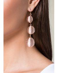 Bebe - Multicolor Metallic Thread Earrings - Lyst