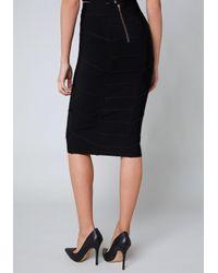 Bebe - Black Betsey Midi Skirt - Lyst