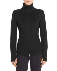 Zella - Black Stand-Collar Sports Jacket  - Lyst