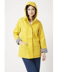 TOPSHOP - Yellow Plastic Rain Mac - Lyst