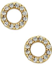 kate spade new york | Metallic Gold-tone Open Circle Stud Earrings | Lyst