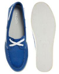 ALDO | Blue Vidalez Flat Boat Shoe | Lyst