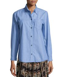 Étoile Isabel Marant - Blue William Chambray Button-down Top - Lyst