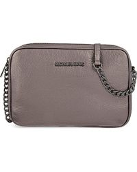 MICHAEL Michael Kors | Gray Bedford Large Leather Cross-body Bag | Lyst