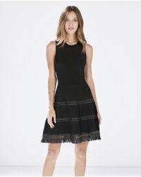 Parker - Black Serene Knit Dress - Lyst