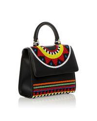 Les Petits Joueurs - Black Mini Alex Africa Handbag - Lyst