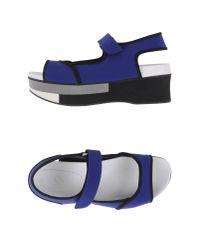 Marni | Blue Neoprene Platform Sandals | Lyst