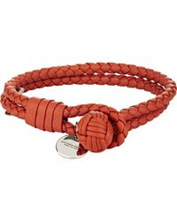 Bottega Veneta | Red Intrecciato Nappa Bracelet for Men | Lyst
