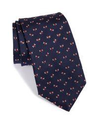 Ferragamo - Blue Bee Pattern Silk Tie for Men - Lyst