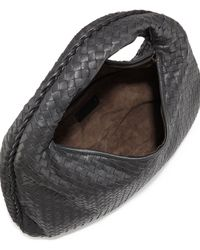 Bottega Veneta - Black Veneta Large Hobo Bag - Lyst