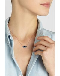 Lito - Blue Tu Es Partout 14karat Rose Gold Blackened Sterling Silver Multistone Necklace - Lyst