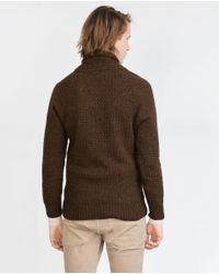 Zara | Brown Structured Sweater for Men | Lyst