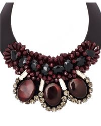 Marni | Dark Red Leather Necklace | Lyst