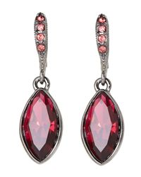 Givenchy | Hematite-Tone & Red Drop Earrings | Lyst