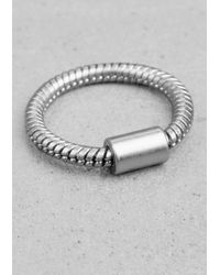 & Other Stories - Metallic Snake Chain Ring - Lyst