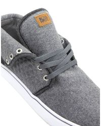 Beck & Hersey - Gray Midtop Quilt Trainers for Men - Lyst