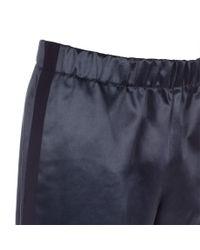 Paul Smith - Slate Blue Cotton-Blend Satin Track Pants for Men - Lyst