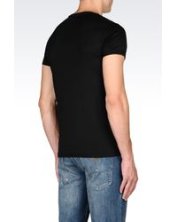 Armani Jeans | Black T-shirt In Cotton Interlock for Men | Lyst