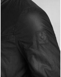 Belstaff - Red Newland Lightweight Blouson In Black Waxed Cotton for Men - Lyst