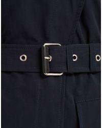 Belstaff - Blue Martingale Riders Long Coat In Navy Water Resistant Nylon - Lyst
