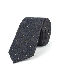 Ben Sherman - Black Herringbone Polka Dot Tie for Men - Lyst