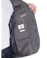 Ben Sherman - Gray Salt And Pepper Boucle Camden Fit Jacket for Men - Lyst
