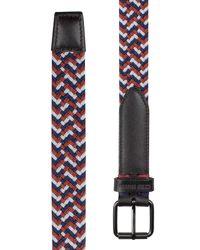 Ben Sherman - Red Barbican Woven Belt for Men - Lyst