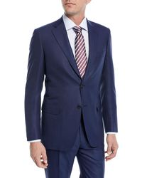 Brioni - Blue Solid Box-weave Wool Two-piece Suit for Men - Lyst