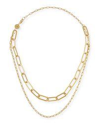 Jennifer Zeuner - Metallic Ema Double-layer Chain Necklace - Lyst