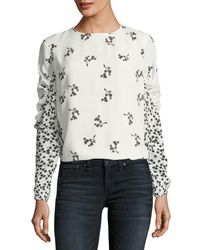 Tibi - Multicolor Florence Floral-print Chiffon Blouse - Lyst
