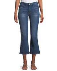FRAME - Blue Le Crop Mini Boot Jeans - Lyst