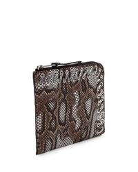 Fendi - Brown Flat Python Whipstitch Clutch Bag - Lyst