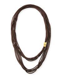 Lafayette 148 New York - Metallic Tea Long Mesh Necklace - Lyst