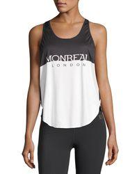 Monreal London - White Relay Scoop-neck Logo Print Top - Lyst