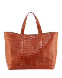 Nancy Gonzalez | Brown Large Crocodile Tote Bag | Lyst
