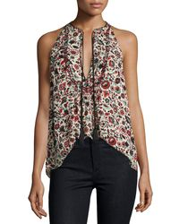 A.L.C. | Multicolor Levi Sleeveless Floral Silk Top | Lyst