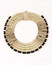 Rosantica - Metallic Cleopatra Beaded Collar Necklace - Lyst