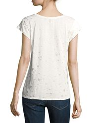 Joie - White Dillon Scoop-neck Allover Stars & Moons Cotton Top - Lyst